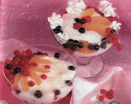 """Рецепт """"Творожный крем с ягодами"""""""