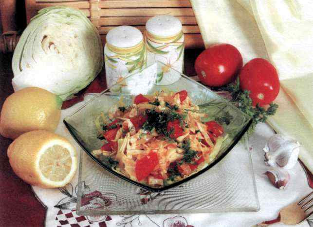 """Рецепт """"Пряный салат с капустой"""""""