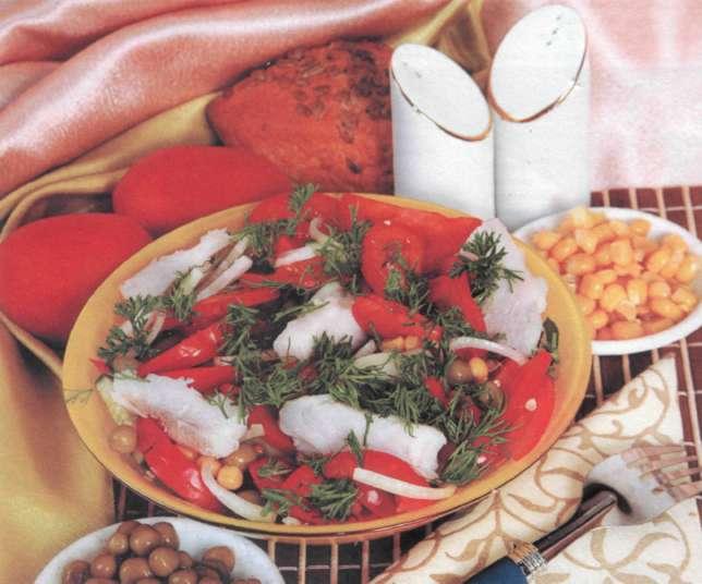 """Рецепт """"Рыбный салат ?Пикантный?"""""""