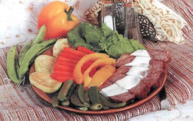 """Рецепт """"Жареная говядина с овощным гарниром"""""""