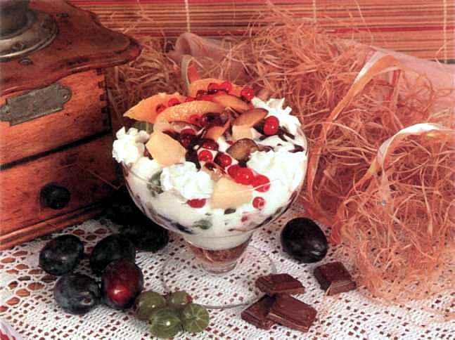 """Рецепт """"Мороженое с шоколадной глазурью"""""""