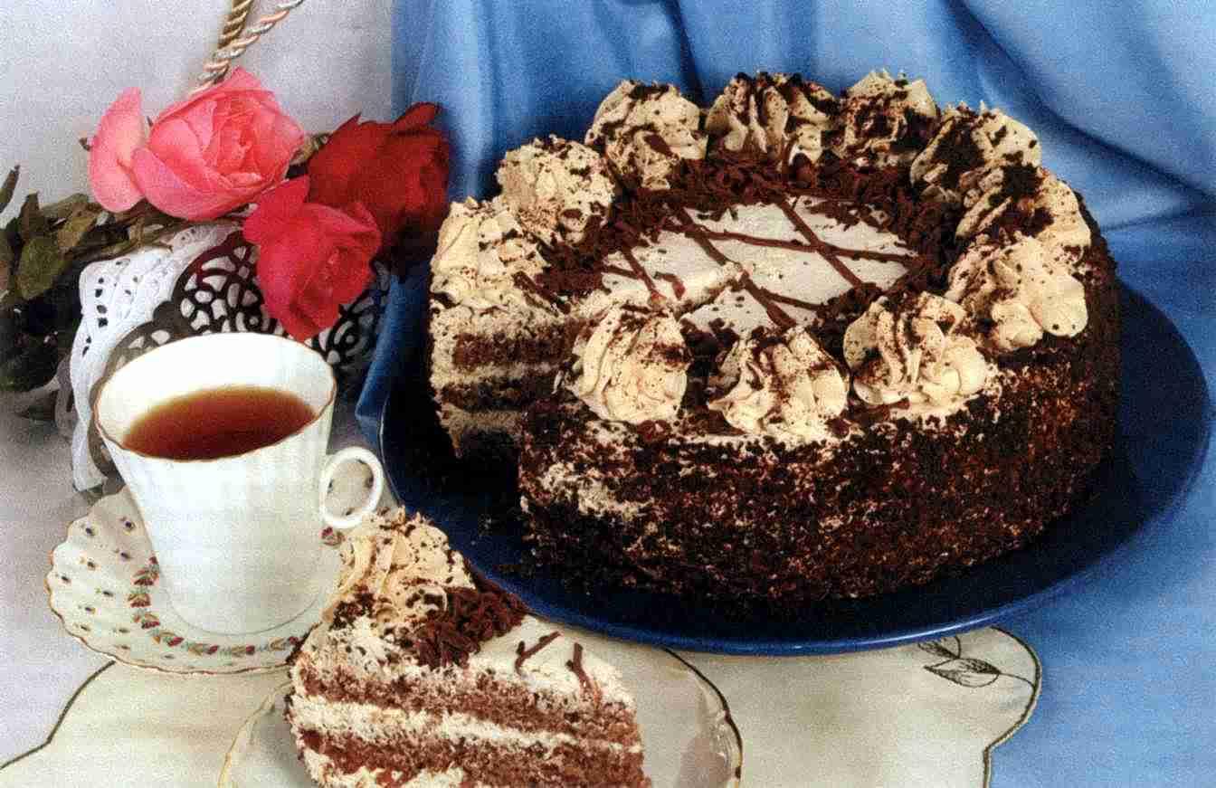 """Рецепт """"Шоколадный торт со сливочным кремом"""""""