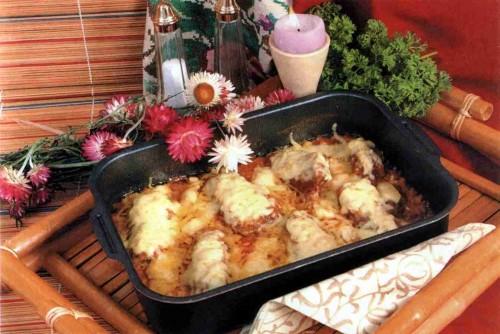 """Рецепт """"Филе говядины, запеченное с морковью и сыром"""""""