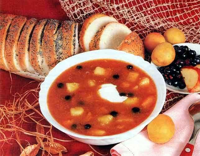 """Рецепт """"Абрикосовый суп с медом"""""""