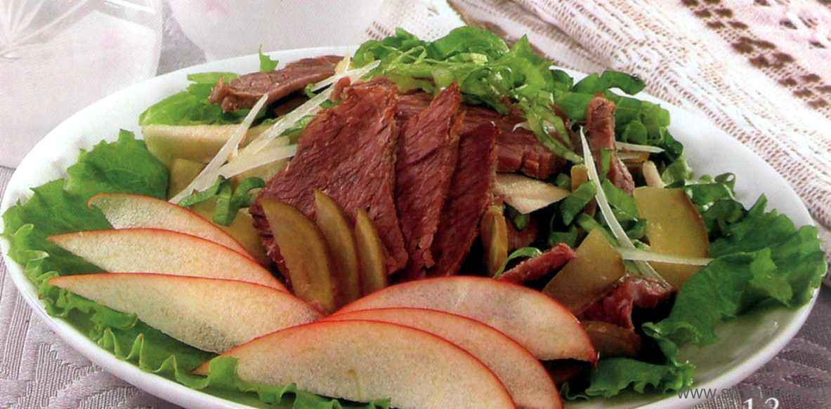 Пикантный салат из говядины