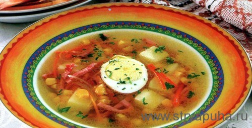 Суп картофельный с кукурузой