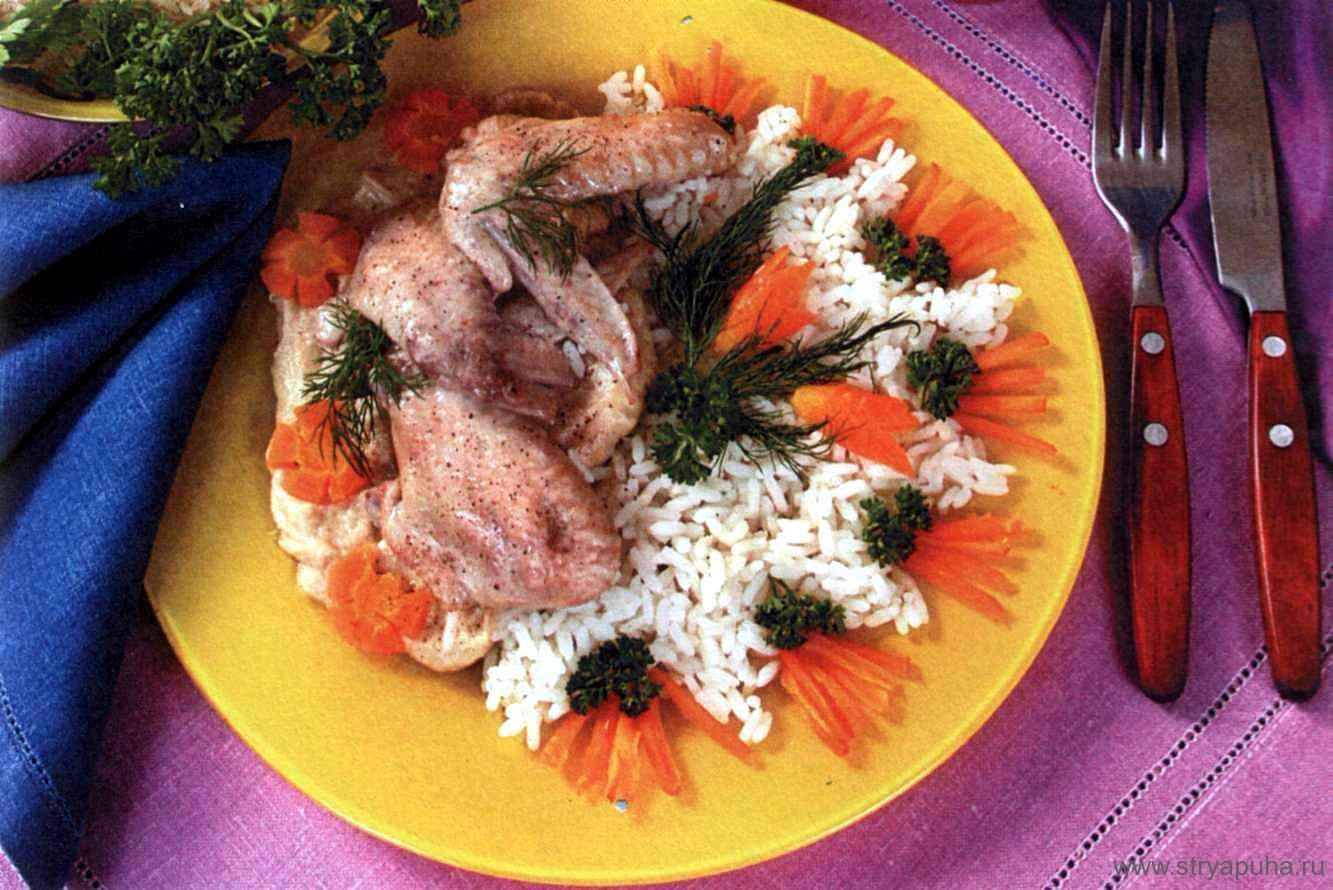 Куриные крылышки в сливочном соусе