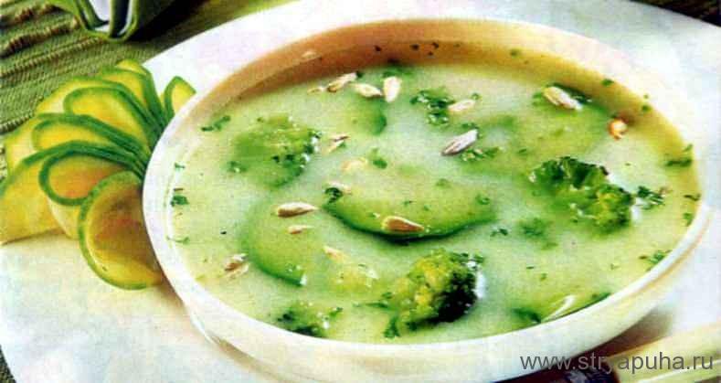 Суп из цуккини и брокколи