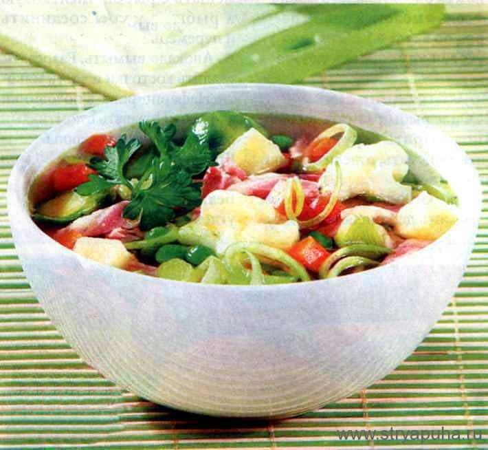 Овощной суп с корейкой