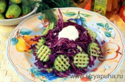 Салат из краснокочанной капусты и моркови