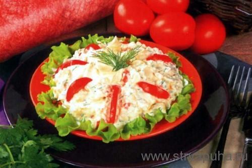 Салат из помидоров и творога